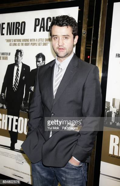 Daniel Mays arrives for the UK premiere of 'Righteous Kill' at the Empire Leicester Square London WC2