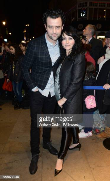 Daniel Mays with an unidentified woman as he attends the What'sOnStage Awards at the Prince of Wales Theatre London
