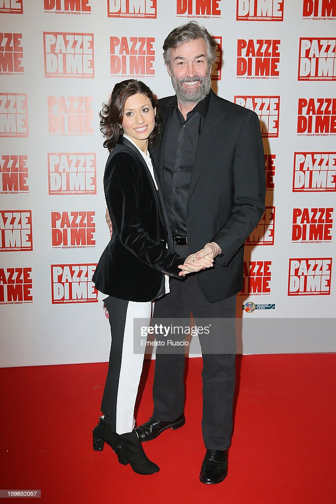 Daniel McVicar and his wife attend the 'Pazze di Me' premiere at Teatro Sistina on January 21, 2013 in Rome, Italy.