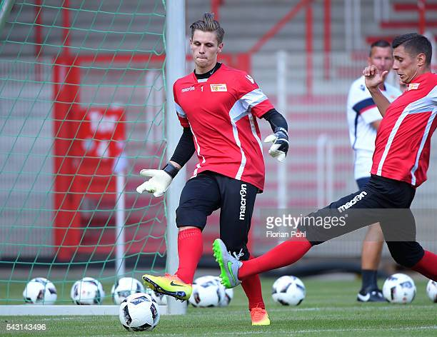 Daniel Mesenhoeler of 1 FC Union Berlin during training on June 26 2016 in Berlin Germany
