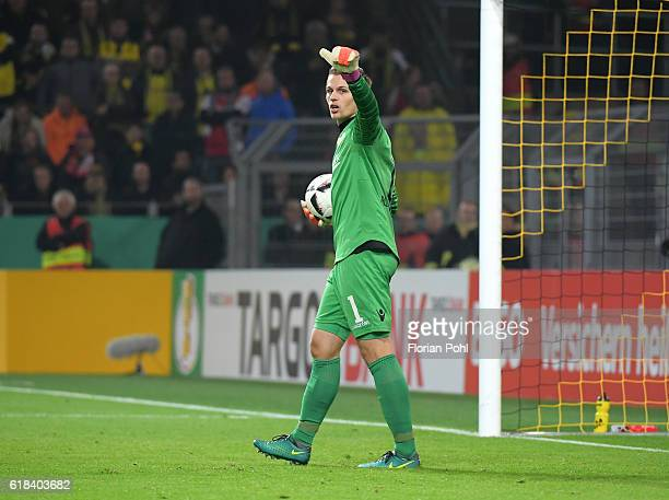 Daniel Mesenhoeler of 1FC Union Berlin during the game between Borussia Dortmund and dem 1 FC Union Berlin on october 26 2016 in Dortmund Germany