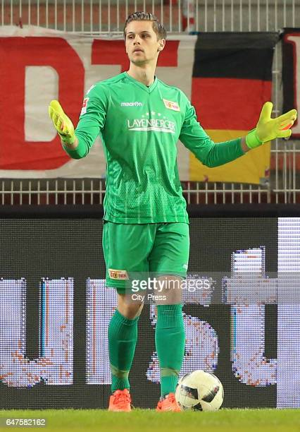 Daniel Mesenhoeler of 1FC Union Berlin during the game between dem 1 FC Union Berlin and the FC Wuerzburger Kickers on March 3 2017 in Berlin Germany