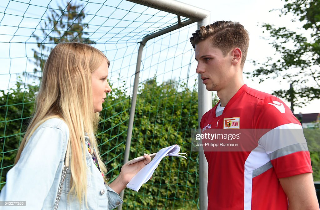 Daniel Mesenhoeler of 1.FC Union Berlin during the lactate tests on June 27, 2016 in Berlin, Germany.