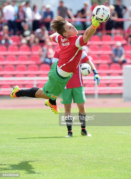 Daniel Mesenhoeler of 1FC Union Berlin during the training match between SV Victoria Seelow and FC Union Berlin on July 3 2016 in Seelow Germany