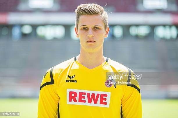 Daniel Mesenhoeler poses during 1 FC Koeln Team Presentation at RheinEnergieStadion on July 6 2015 in Cologne Germany
