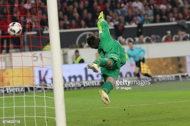 Daniel Messenhoeler of Union Berlin in action during the Second Bundesliga match between VfB Stuttgart and 1 FC Union Berlin at MercedesBenz Arena on...