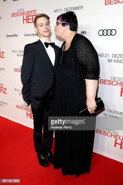 Daniel Meyer and his mother Debbie Wyrich attend the 'Dieses bescheuerte Herz' premiere on December 12 2017 in Berlin Germany