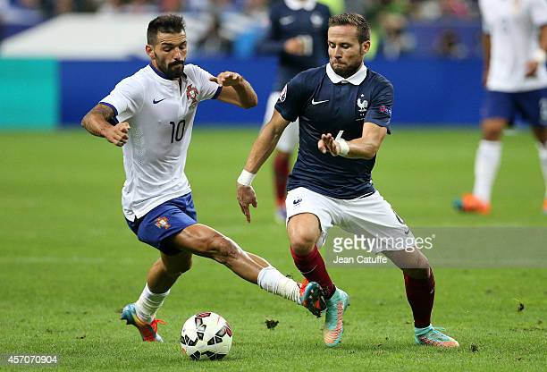 Daniel Miguel Alves Gomes of Portugal better known as Danny and Yohan Cabaye of France in action during the international friendly match between...