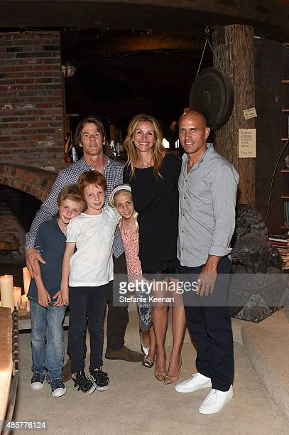 Daniel Moder Julia Roberts Kelly Slater Phinnaeus Moder Henry Daniel Moder and Hazel Moder attend Kelly Slater John Moore and Friends Celebrate the...
