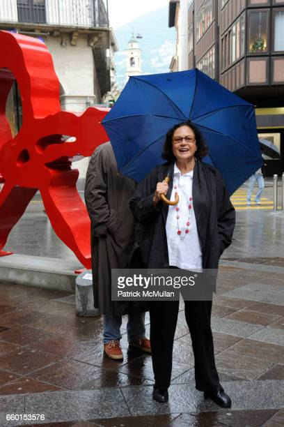 Daniel Moquay and Rotraut attend GALERIE GMURZYNSKA Celebrates YVES KLEIN ROTRAUT Sculptures Around Lugano on May 15 2009 in Lugano Switzerland