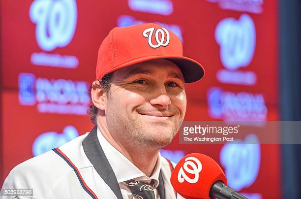 Daniel Murphy during a press conference to introduce new Nationals infielder on January 7 2016 in Washington DC