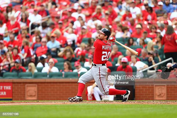 Daniel Murphy of the Washington Nationals bats against the St Louis Cardinals at Busch Stadium on May 1 2016 in St Louis Missouri