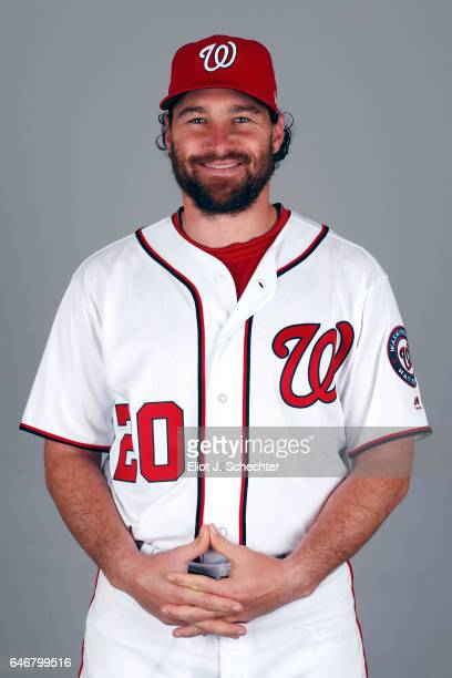 Daniel Murphy of the Washington Nationals poses during Photo Day on Thursday February 23 2017 at the Ballpark of the Palm Beaches in West Palm Beach...