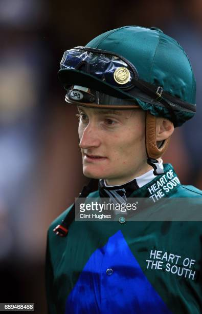 Daniel Muscutt in the parade ring during the Amix Ready Mixed Concrete Handicap Stakes at Haydock Racecourse on May 27 2017 in Haydock England