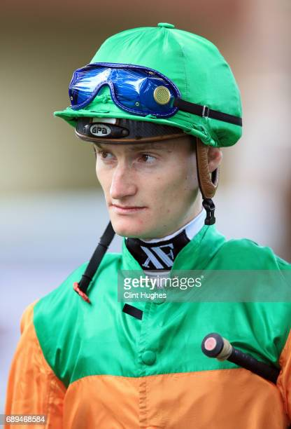 Daniel Muscutt in the parade ring during the Amix Silver Bowl Handicap Stakes at Haydock Racecourse on May 27 2017 in Haydock England