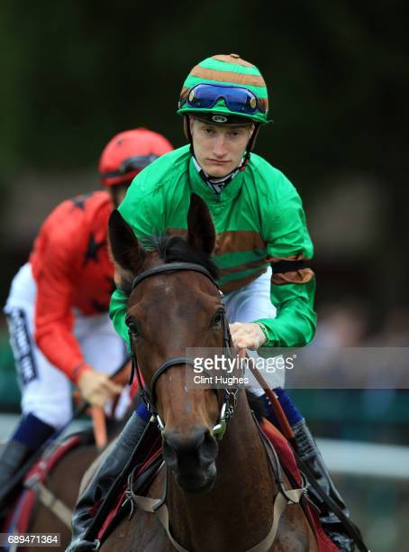 Daniel Muscutt riding Veena during the EBF Stallions Cecil Frail Stakes at Haydock Racecourse on May 27 2017 in Haydock England