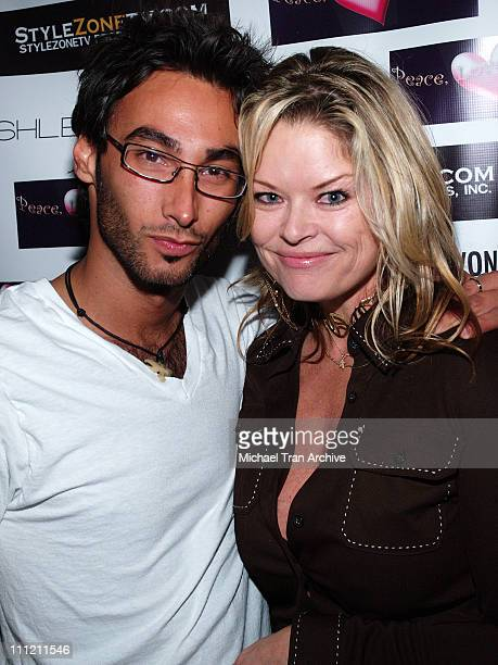 Daniel Nahari and Christine Martin during Peace Love and Bikini's After Party and Benefit for Hurricane Katrina 23 September 2005 at Velvet Margarita...