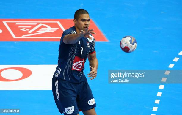 Daniel Narcisse of France in action during the 25th IHF Men's World Championship 2017 Final between France and Norway at Accorhotels Arena on January...