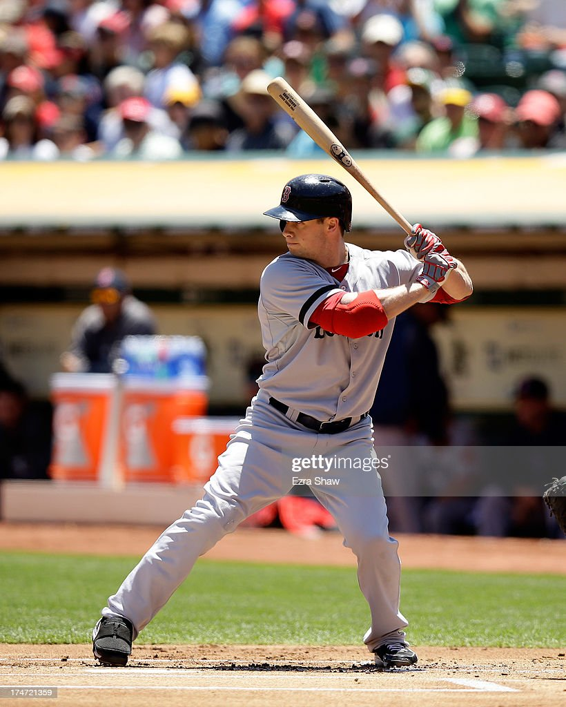 <a gi-track='captionPersonalityLinkClicked' href=/galleries/search?phrase=Daniel+Nava&family=editorial&specificpeople=670454 ng-click='$event.stopPropagation()'>Daniel Nava</a> #29 of the Boston Red Sox bats against the Oakland Athletics at O.co Coliseum on July 14, 2013 in Oakland, California.