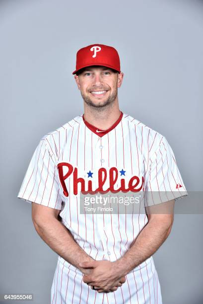 Daniel Nava of the Philadelphia Phillies poses during Photo Day on Monday February 20 2017 at Spectrum Field in Clearwater Florida