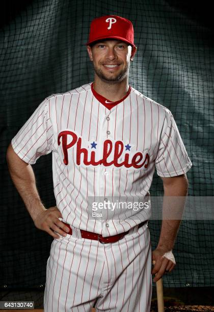 Daniel Nava of the Philadelphia Phillies poses for a portrait during the Philadelphia Phillies photo day on February 20 2017 at Spectrum Field in...