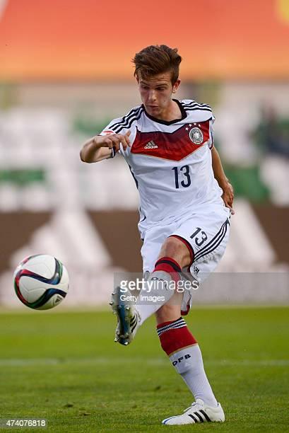 Daniel Nesseler of Germany U17 in action during the UEFA European Under17 Championship Semi Final match between Germany U17 and Russia U17 at Beroe...