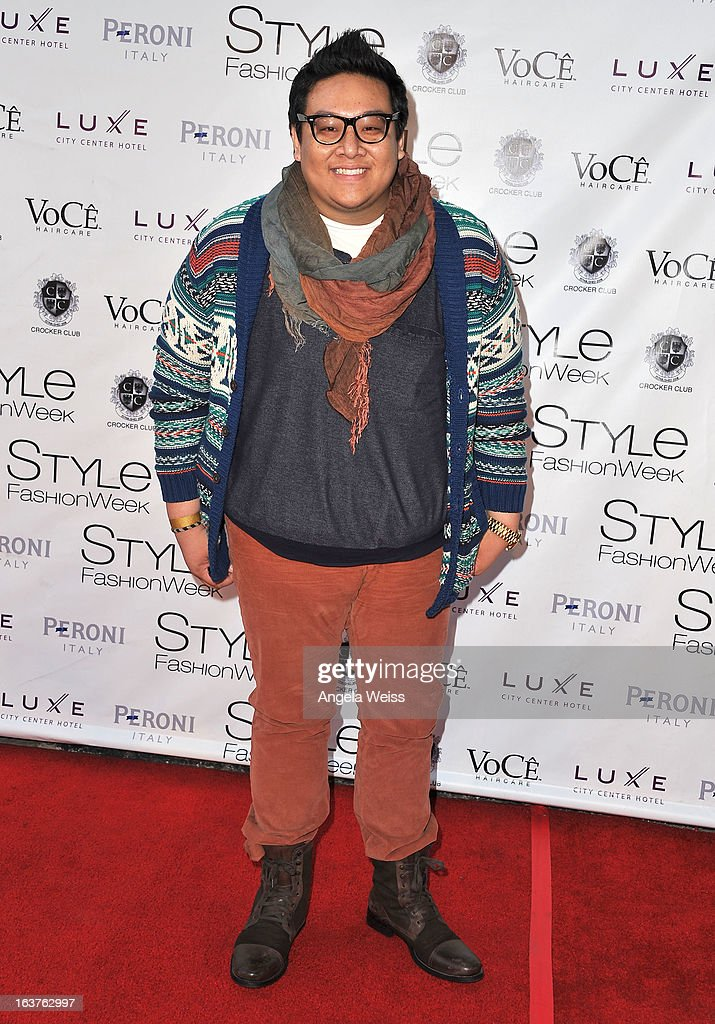 Daniel Nguyen arrives at the Madisonpark Collective fashion show as part of Los Angeles Fashion Week at Vibiana on March 14, 2013 in Los Angeles, California.