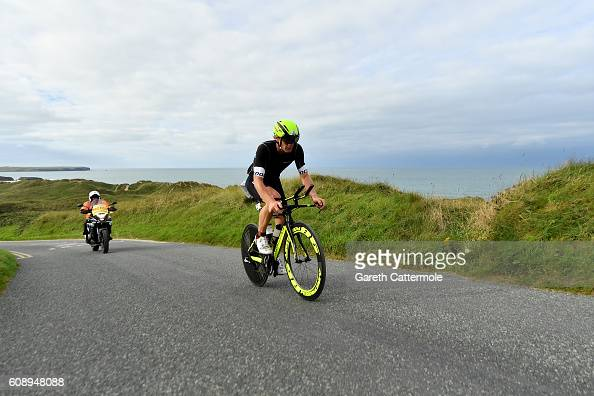 Daniel Niederreiter of Austria in action during Ironman Wales on September 18 2016 in Pembroke Wales