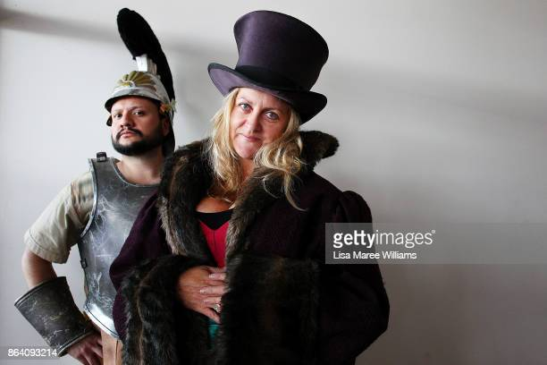 Daniel Nino and Gina Bowman attend a costume and clothing sale at The Opera Centre on October 21 2017 in Sydney Australia Opera Australia is making...