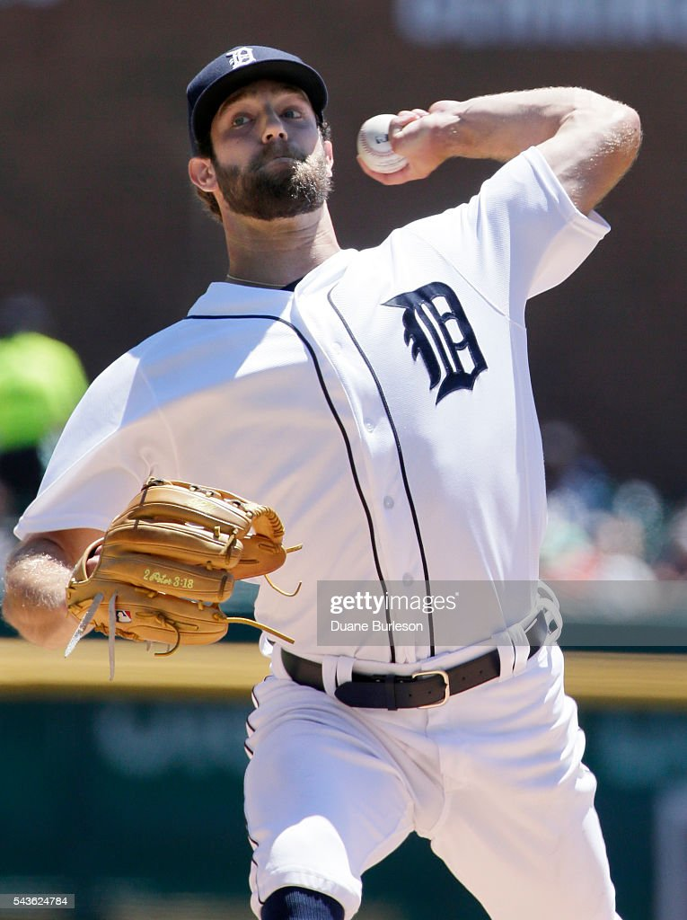 Daniel Norris #44 of the Detroit Tigers pitches against the Miami Marlins during the first inning at Comerica Park on June 29, 2016 in Detroit, Michigan.