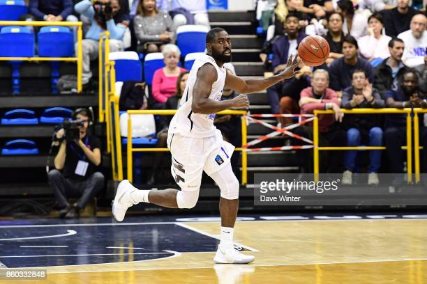 Daniel Nwaelele of Levallois during the EuropCup match between Levallois Metropolitans and Darussafaka Istanbul at Salle Marcel Cerdan on October 11...