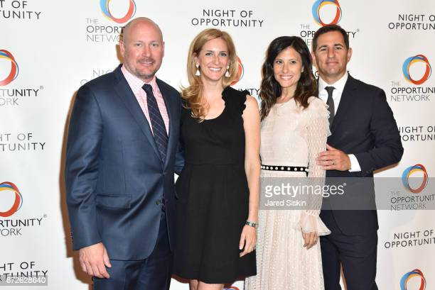 Daniel O'Keefe guest Nora Weinstein and Brian Weinstein attend The Opportunity Network's 10th Annual Night of Opportunity Gala at Cipriani Wall...