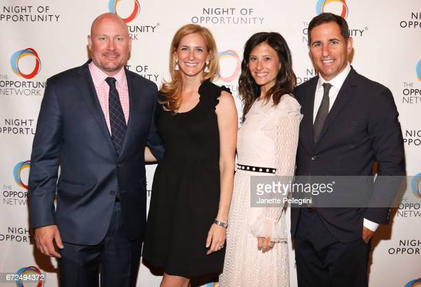 Daniel OKeefe Sarah OKeefe Nora Weinstein and Brian Weinstein attend The Opportunity Network's 10th Annual Night of Opportunity Gala at Cipriani Wall...