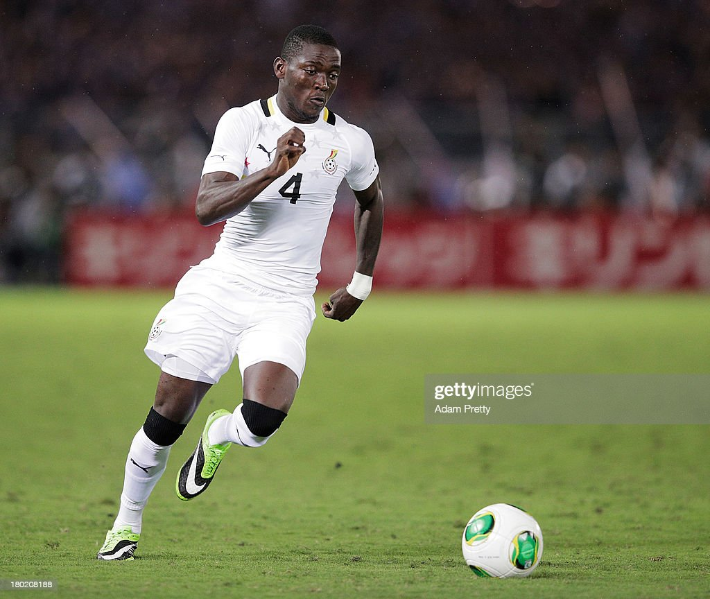 Daniel Opare of Ghana controls the ball during the international friendly match between Japan and Ghana at International Stadium Yokohama on September 10, 2013 in Yokohama, Japan.
