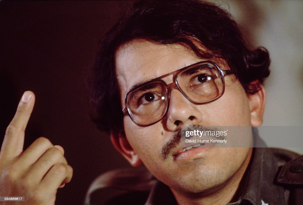 Daniel Ortega, leader of the Nicaraguan junta, in April 1981 in Havana, Cuba. He is in town to attend a meeting for the World Council for Peace and as a guest of the 20th anniversary of Cuba's victory at the Bay of Pigs.