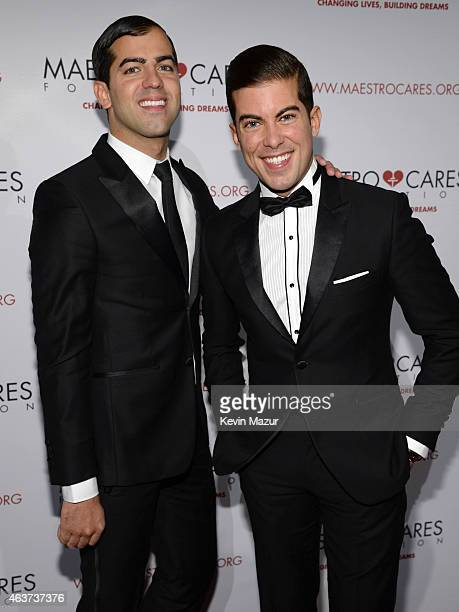 Daniel Ortiz and Luis Ortiz attend Maestro Cares Second Annual Gala Dinner at Cipriani Wall Street on February 17 2015 in New York City
