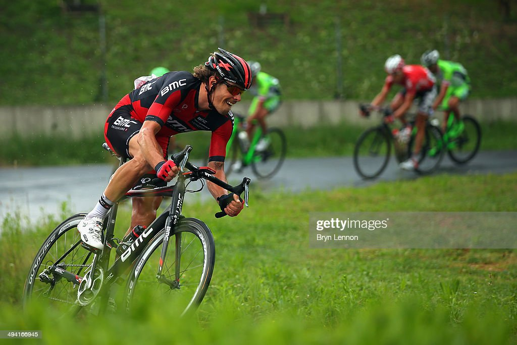 <a gi-track='captionPersonalityLinkClicked' href=/galleries/search?phrase=Daniel+Oss&family=editorial&specificpeople=5734271 ng-click='$event.stopPropagation()'>Daniel Oss</a> of Italy and the BMC Racing Team in action during the seventeenth stage of the 2014 Giro d'Italia, a 208km stage between Sarnonico and Vittorio Veneto on May 28, 2014 in Vittorio Veneto, Italy.