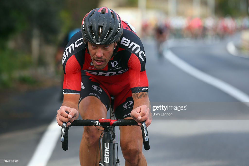 <a gi-track='captionPersonalityLinkClicked' href=/galleries/search?phrase=Daniel+Oss&family=editorial&specificpeople=5734271 ng-click='$event.stopPropagation()'>Daniel Oss</a> of Italy and the BMC Racing Team makes an attack during the 2015 Milan-Sanremo race, a 293km road race from Milan to Sanremo on March 22, 2015 in San Remo, Italy.