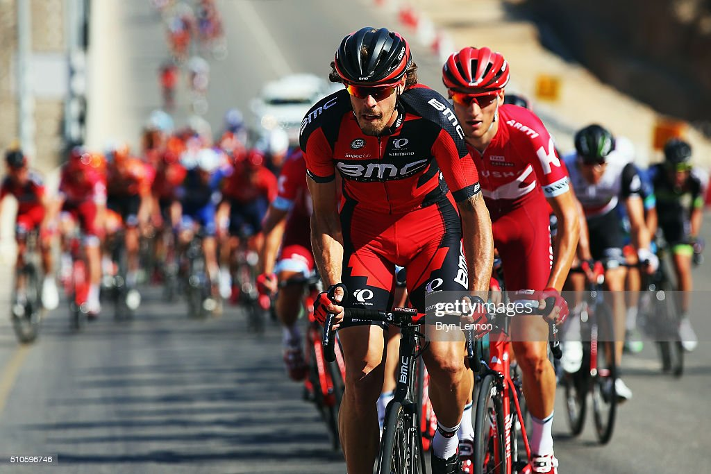 <a gi-track='captionPersonalityLinkClicked' href=/galleries/search?phrase=Daniel+Oss&family=editorial&specificpeople=5734271 ng-click='$event.stopPropagation()'>Daniel Oss</a> of Italy and the BMC Racing Team sets the pace at the front of the peloton during stage one of the 2016 Tour of Oman, a 145km road stage from Oman Exhibition Centre to Al Bustan on February 16, 2016 in Muscat, Oman.