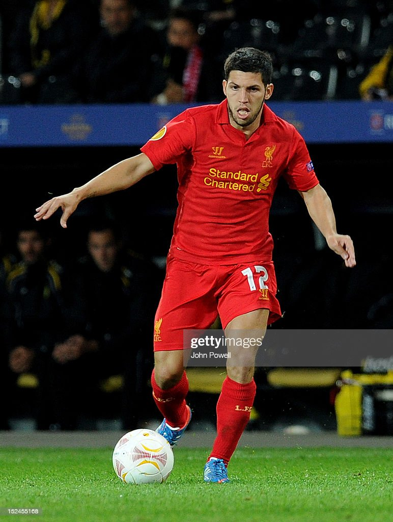 <a gi-track='captionPersonalityLinkClicked' href=/galleries/search?phrase=Daniel+Pacheco&family=editorial&specificpeople=5441013 ng-click='$event.stopPropagation()'>Daniel Pacheco</a> of Liverpool during the UEFA Europa League match between BSC Young Boys and Liverpool FC at Stade de Suisse, Wankdorf on September 20, 2012 in Bern, Switzerland.