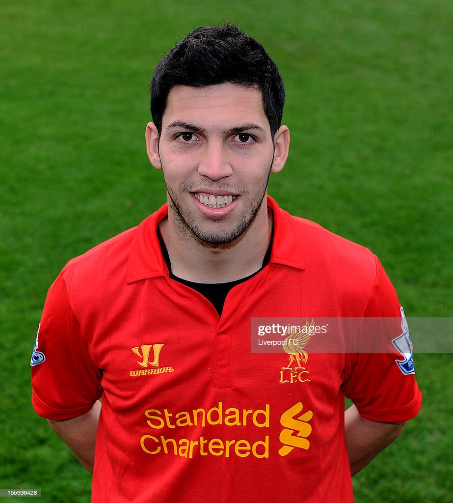 Daniel Pacheco of Liverpool poses for a portrait at Melwood on November 6, 2012 in Liverpool, England.