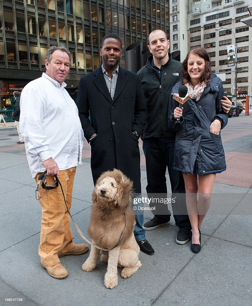 Daniel Painter, Charles the Monarch, AJ Calloway, Ryan Jensen, and Natalie Painter visit 'Extra' in Times Square on January 10, 2013 in New York City.