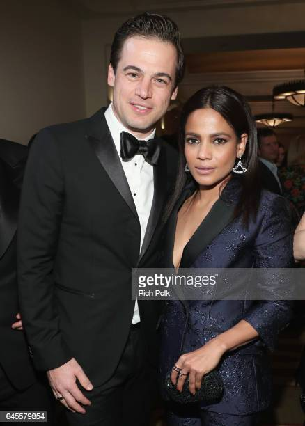 Daniel Paltridge President North America Bulgari and actress Priyanka Bose attend The Weinstein Company's PreOscar Dinner in partnership with Bvlgari...