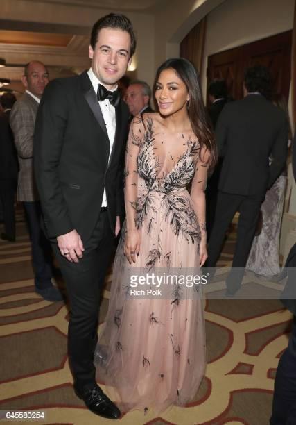 Daniel Paltridge President North America Bulgari and singer Nicole Scherzinger attend The Weinstein Company's PreOscar Dinner in partnership with...