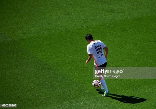 Daniel Parejo of Valencia in action during the La Liga match between Valencia CF and CA Osasuna at Mestalla Stadium on May 7 2017 in Valencia Spain