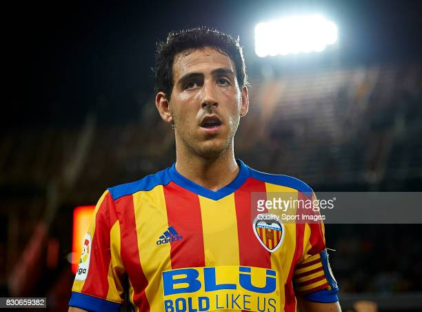 Daniel Parejo of Valencia looks on during the preseason friendly match between Valencia CF and Atalanta BC at Estadio Mestalla on August 11 2017 in...
