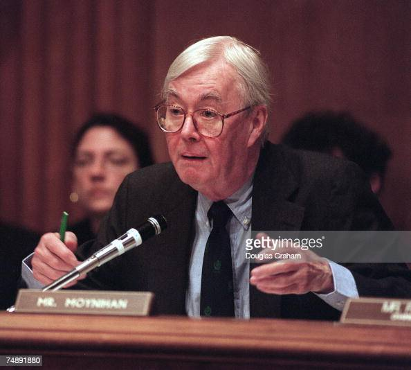 Daniel Patrick Moynihan during a hearing on legislation that would provide for the transfer of onehalf cent of the 43 cents per gallon motor fuel tax...