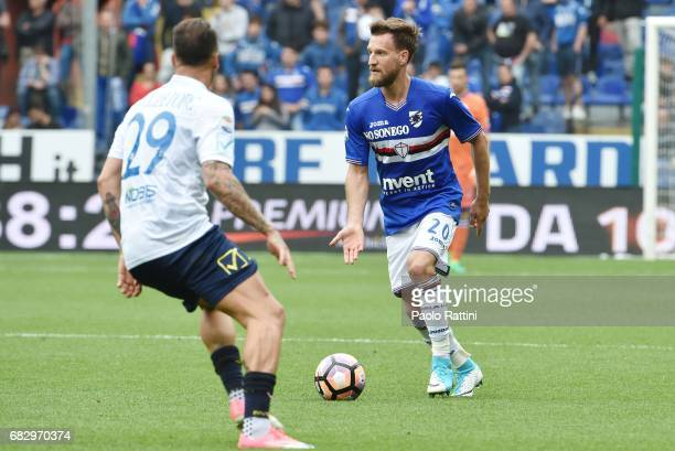 Daniel Pavlovic during the Serie A match between UC Sampdoria and AC ChievoVerona at Stadio Luigi Ferraris on May 14 2017 in Genoa Italy