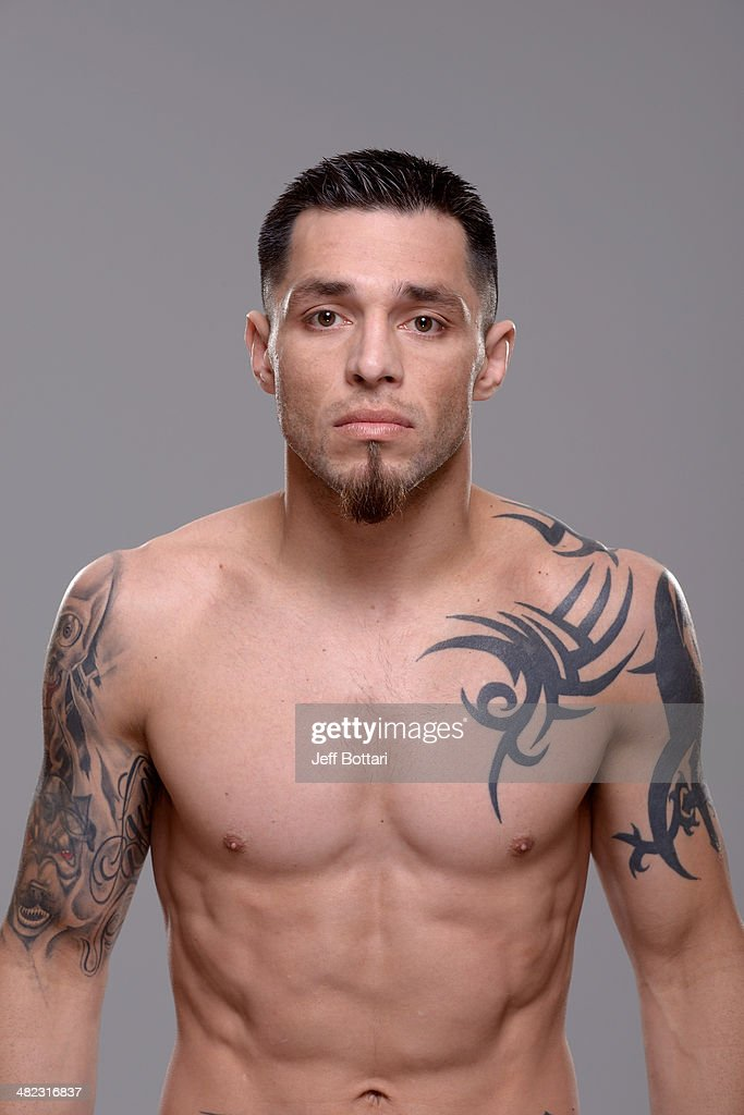 Daniel Pineda poses for a portrait during a UFC photo session on March 12 2014 in Dallas Texas