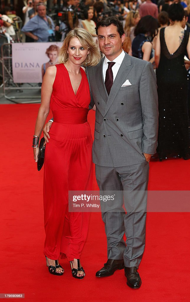 Daniel Pirrie and guest attend the World Premiere of 'Diana' at Odeon Leicester Square on September 5, 2013 in London, England.